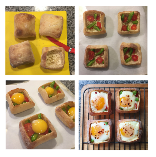 Ciabatta Recipe Collage